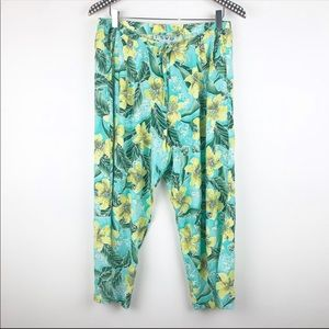 Jams World Floral Boho Print Pants S Drawstring